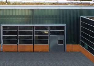 Schlosserei Dietrich, Friedrichshafen, Corten / Stahltuerdunkel