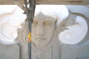 KuDamm 123 Fassadensanierung Detail mit Medusa