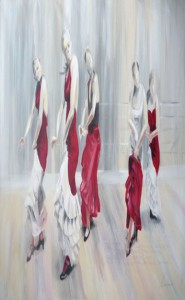 Las seis cuerdas, Acrylgemälde, Michael Lieb
